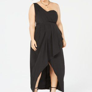 City Chic Allure One-Shoulder Maxi Dress